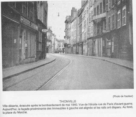 rue de paris 1940 thionville en 1900 thionville macit e. Black Bedroom Furniture Sets. Home Design Ideas