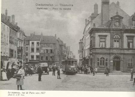 place du marche 1917 3 thionville en 1900 thionville macit e. Black Bedroom Furniture Sets. Home Design Ideas